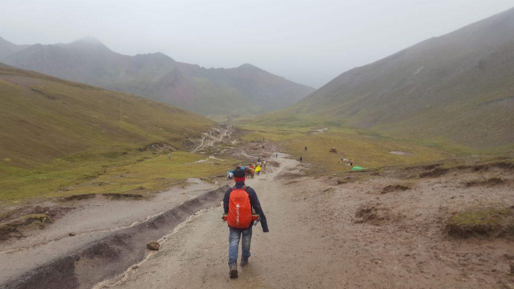 Rainbow mountain trail mud