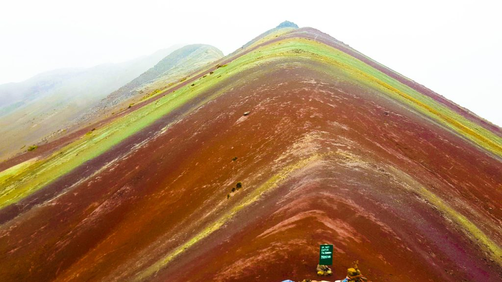 Rainbow Mountain Peru colorful photoshop