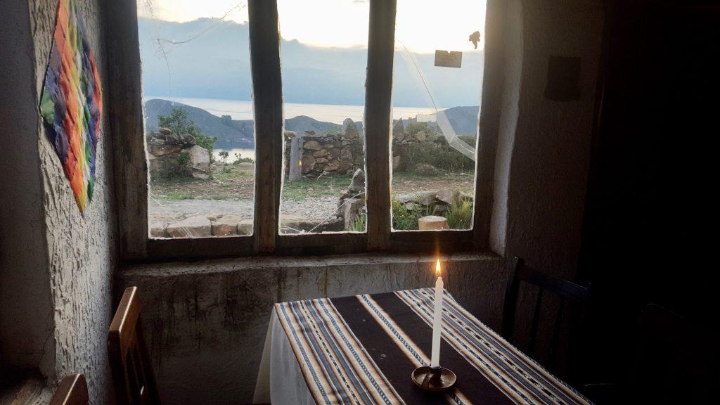 Los Velas restaurant Isla del Sol Boliva