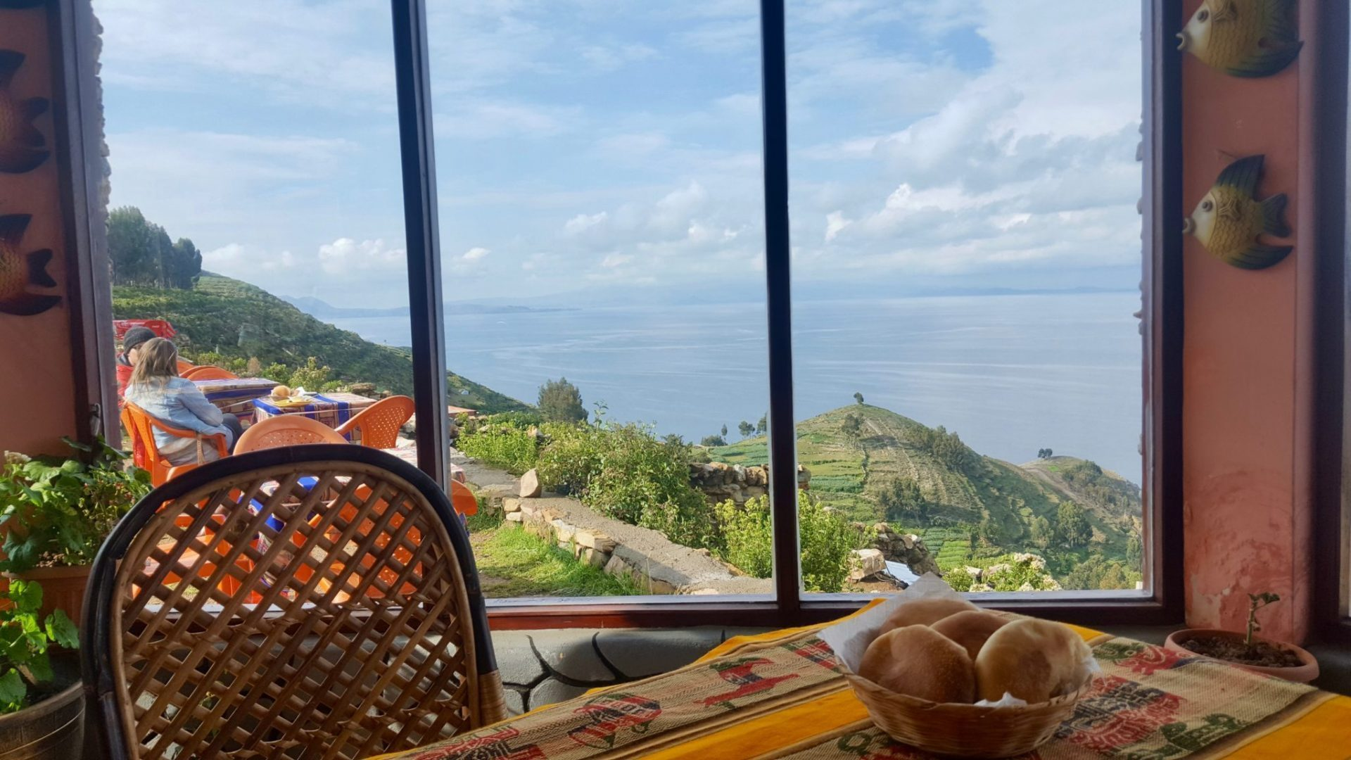 View from restaurant on Isla del Sol