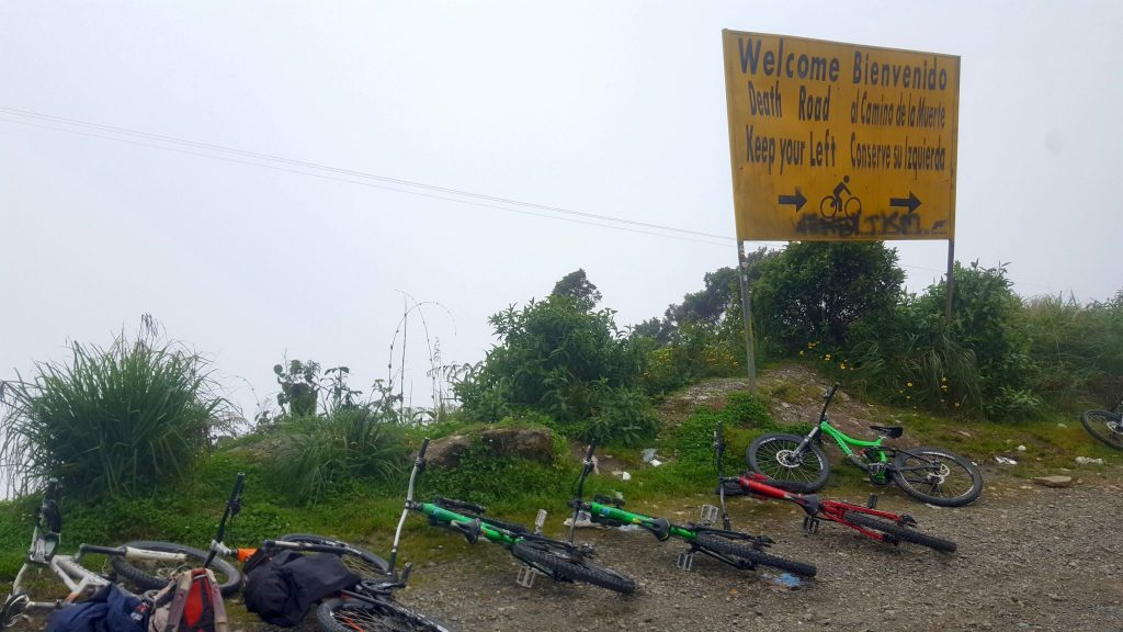 Barracuda Biking bikes on Death Road