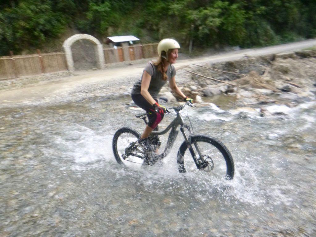 River crossing Death Road Bolivia