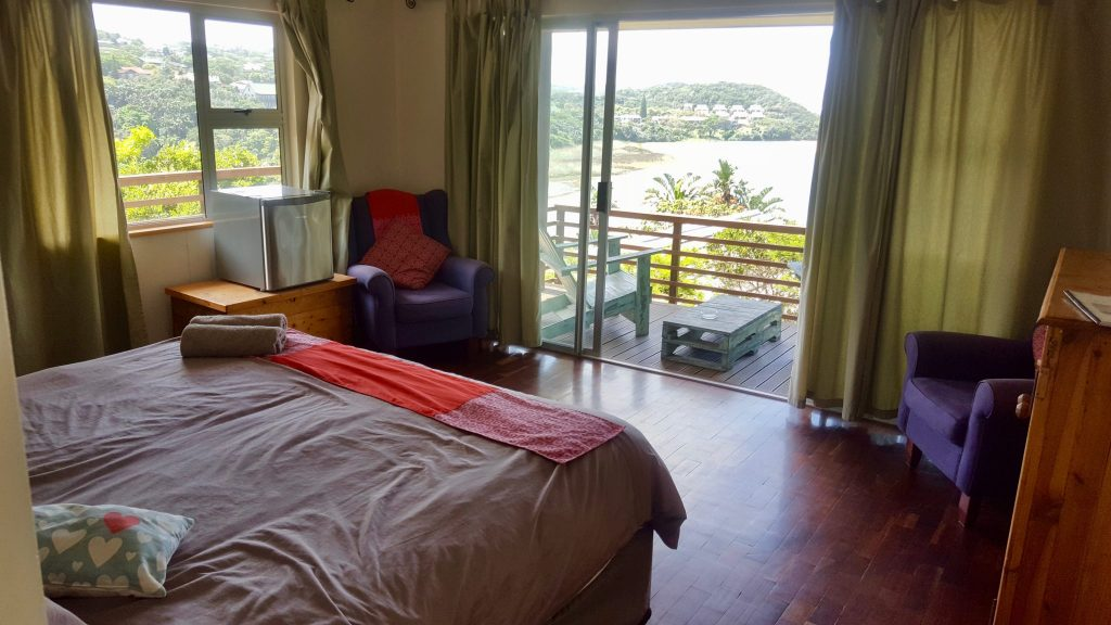 "This $30 per night ""hostel"" room was a luxury experience that included a private balcony overlooking the Wild Coast"