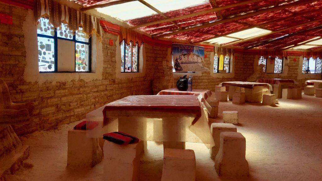 Uyuni Salt hotel dining area