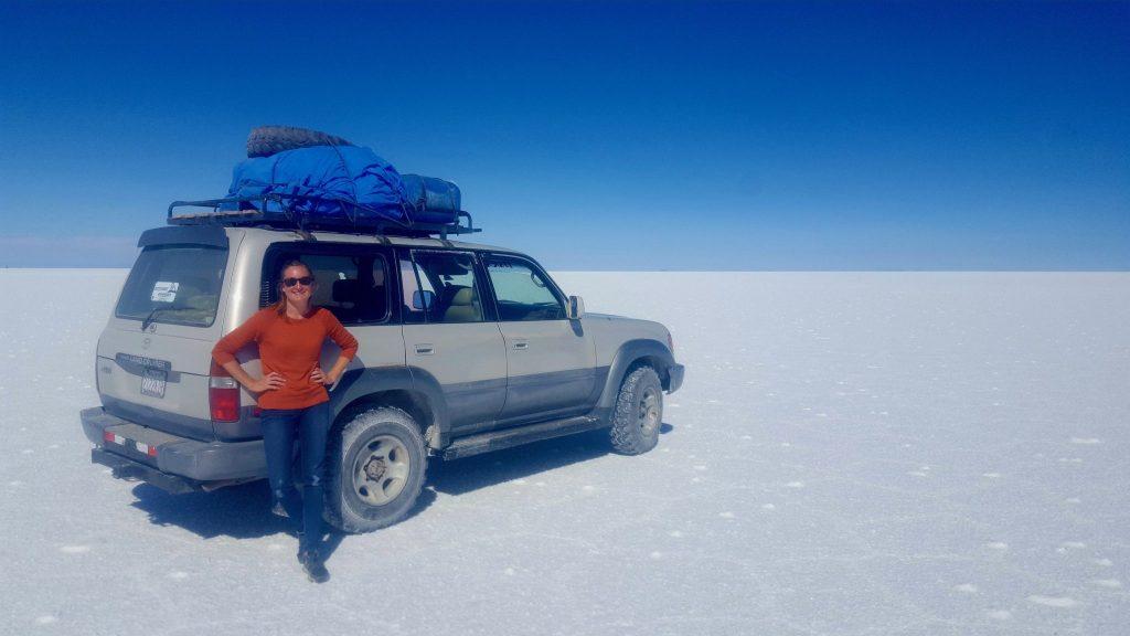 Land Rover during Bolivia Salt Flat tour
