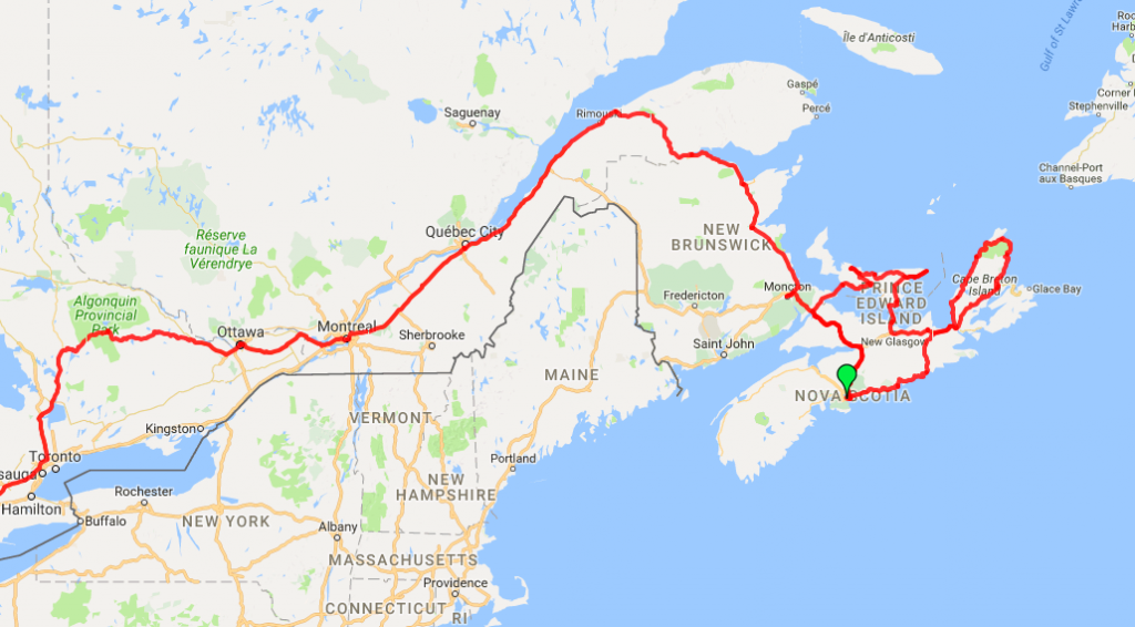 Eastern Canada Itinerary