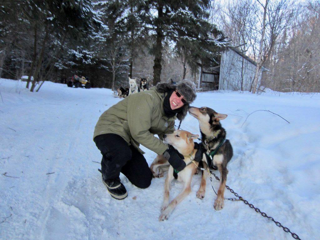 Dog sledding adventure in Ontario Canada