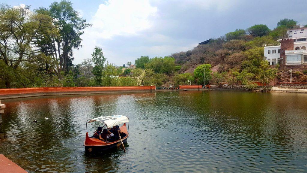 Rowboats on presa de la Olla Guanajuato Mexico