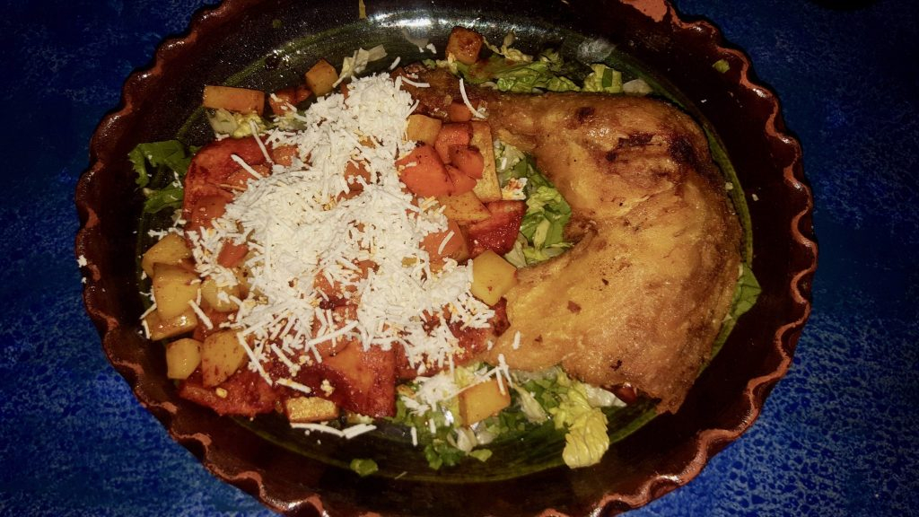 enchiladas mineras (or miner's enchiladas) is a typical cuisine and menu item in Guanajuato