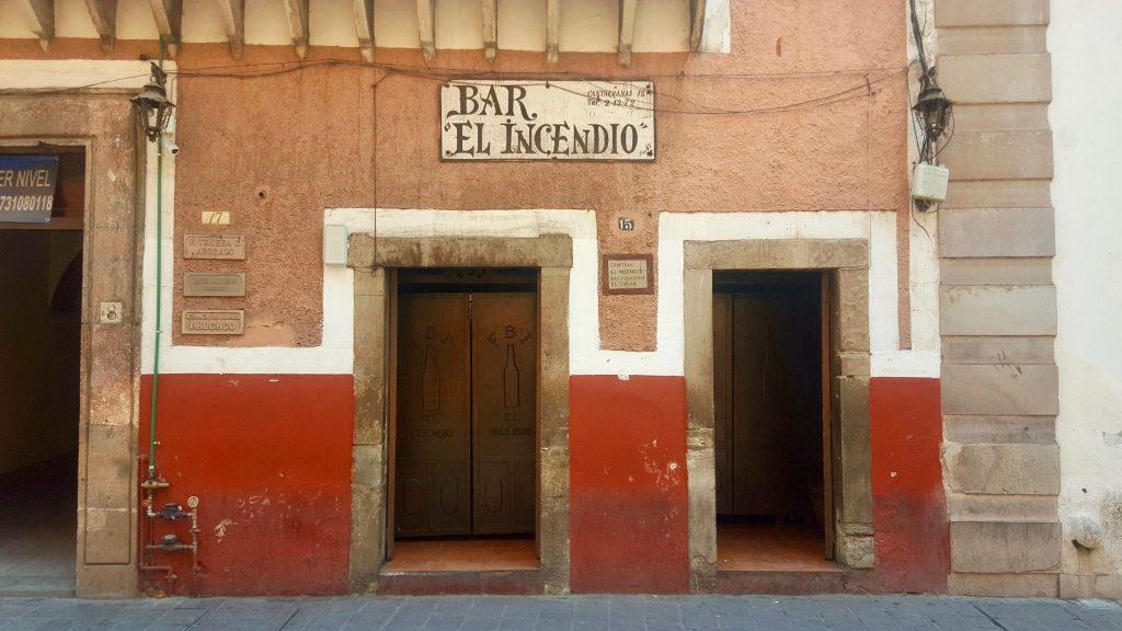 Bar el Indendio cantina in Guanajuato