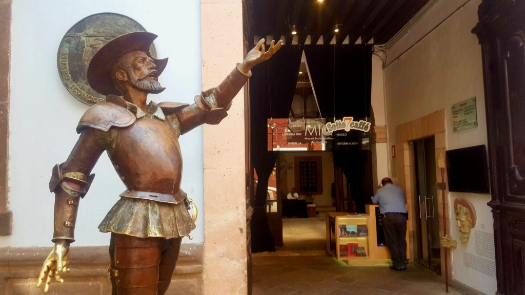 Statue at entrance to Don Quixote Iconographic Museum Guanajuato