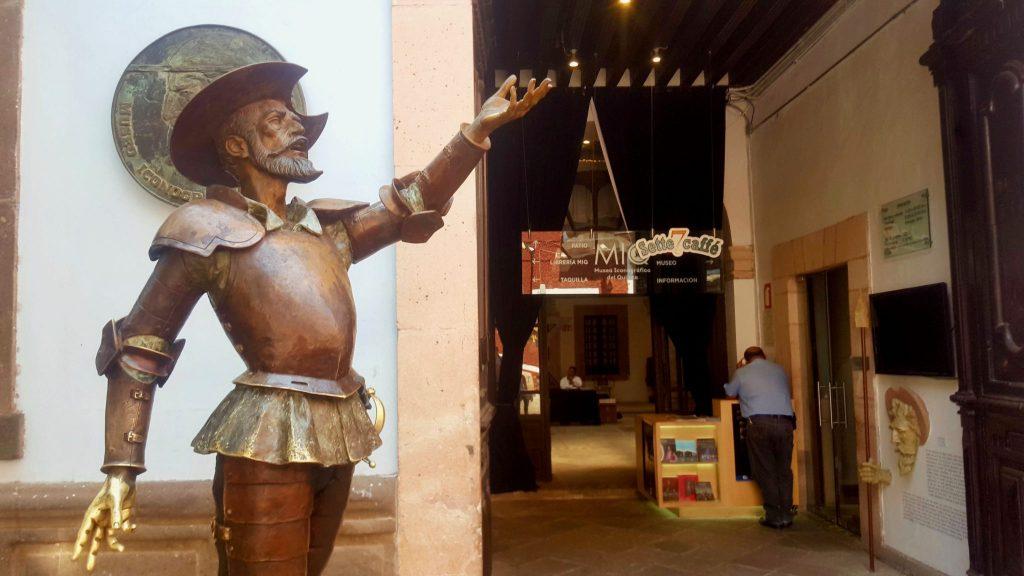 Statue at entrance to Don Quixote Iconographic Museum Guanajuato