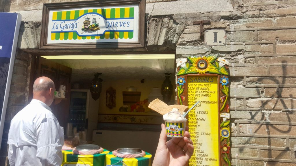 La Garrafa Nieves ice cream Guanajuato