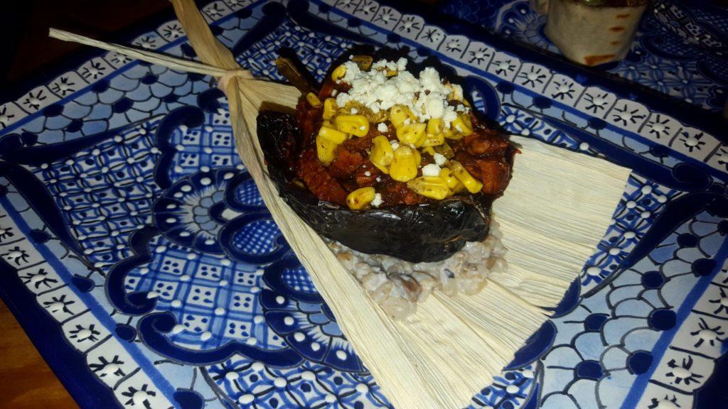 chile relleno at Los Campos Restaurant Guanajuato Mexico