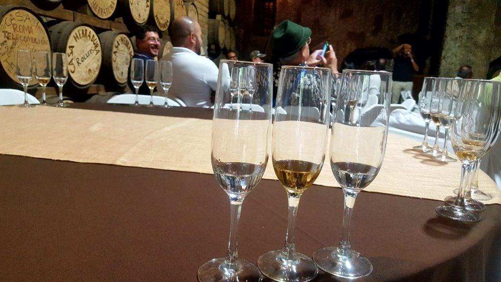 Tequila tasting at Casa Herradura