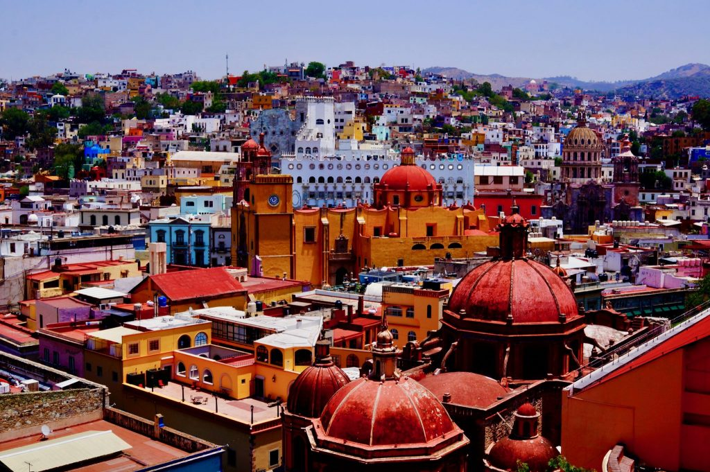 View of Guanajuato historic city center