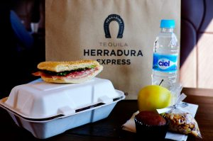 Tequila Herradura Express breakfast snack