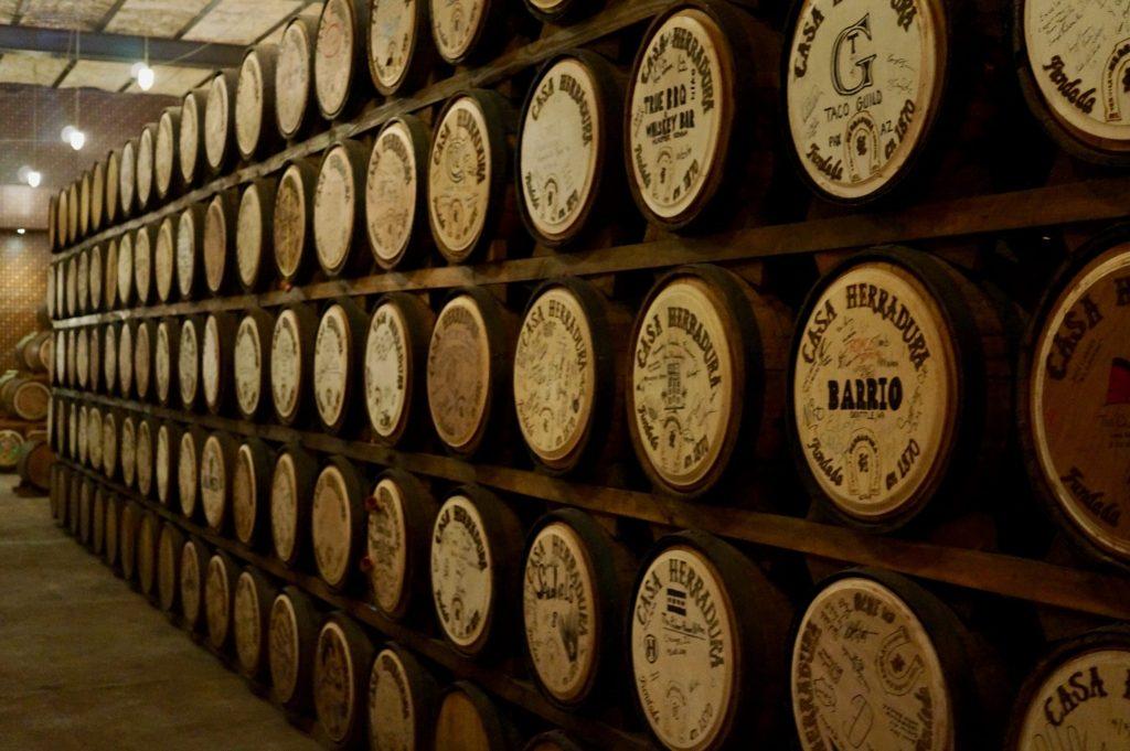 Buy a barrel of tequila at Casa Herradura