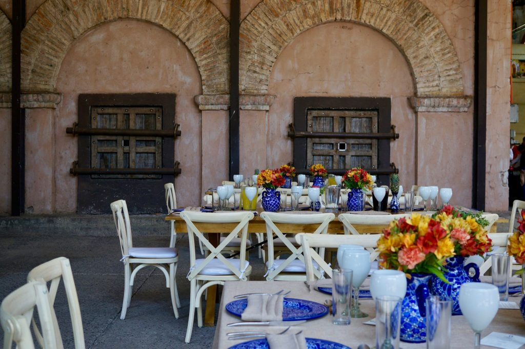 tablescape for tequila lunch at casa herradura