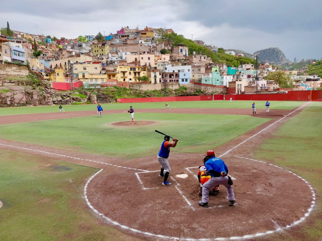 Estadio Aguilar y Maya baseball field in Guanajuato