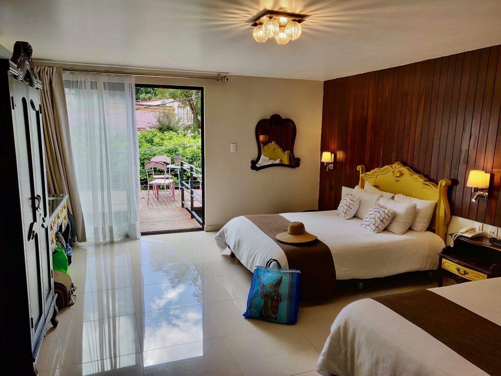 Casa Lunatta hotel room in Guanajuato