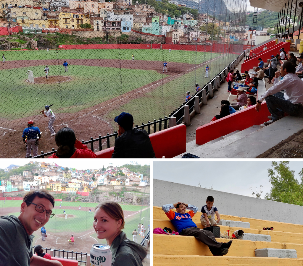 Watching baseball in Guanajuato Mexico