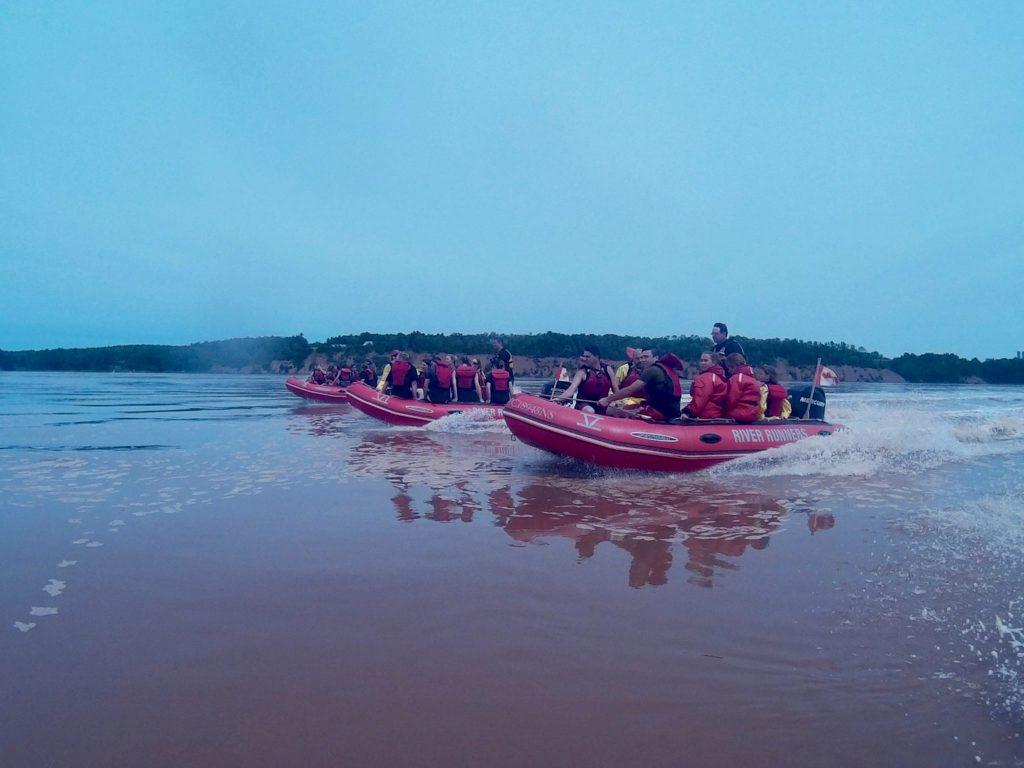 Tidal bore rafting nova scotia with Shubenacadie River runners