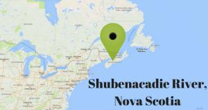 Map location of Shubenacadie Tidal Bore Rafting Nova Scotia