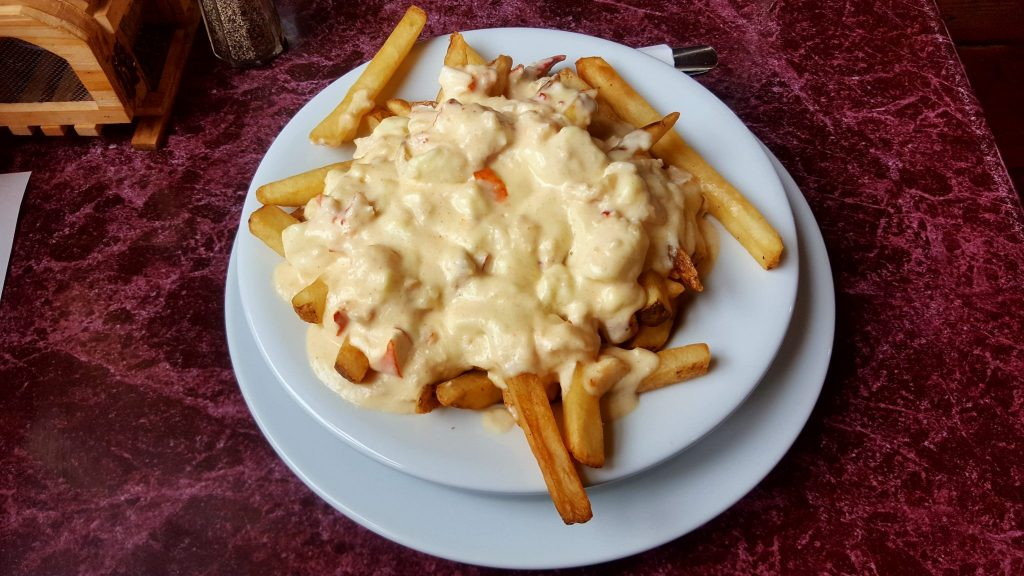 Lobster Poutine is another way to eat lobster in PEI