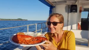 Lobster meal during PEI floating lobster boil
