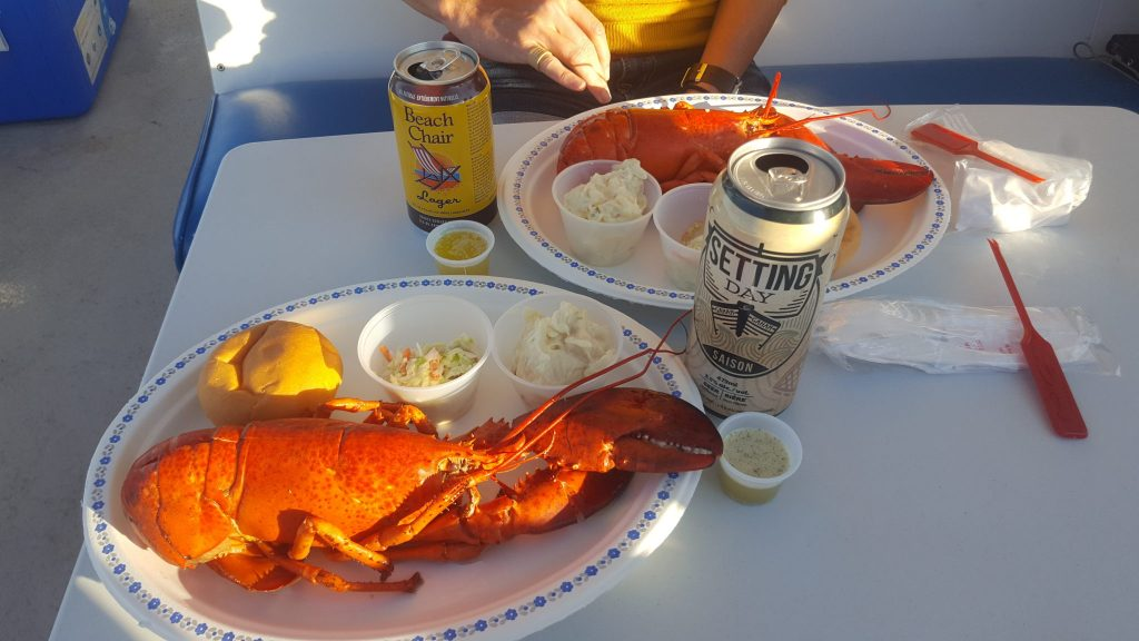 PEI Lobster during Floating Lobster Boil with Island Boat Adventures