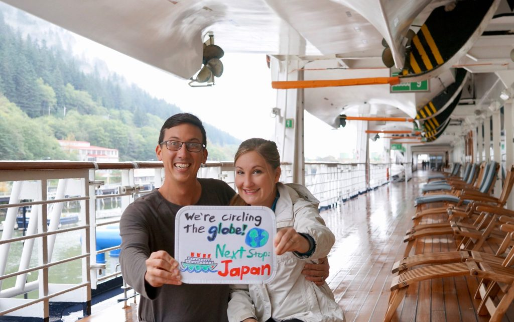 Heather & John circling the world on a cruise to Japan