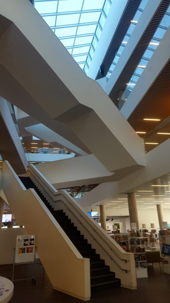 Halifax Central Library stairs