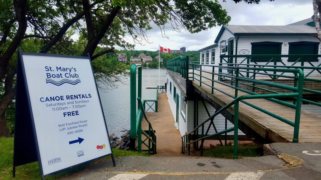 St Mary's Boat Club Free canoe rentals on weekends in Halifax