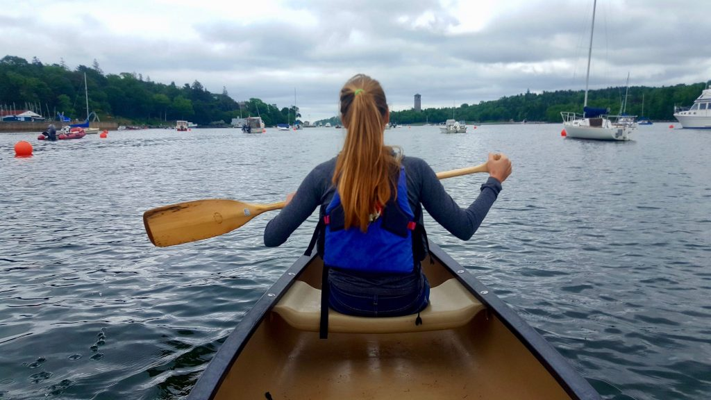 Canoeing in Halifax using a free canoe rental from St Mary's Boat Club