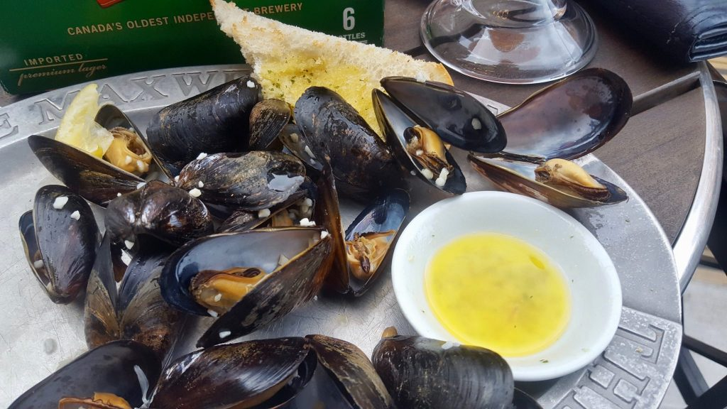 Maxwell's Plum $3 island blue mussels Sunday dinner special