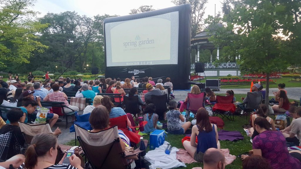 Outdoor Film Experience in the Public Gardens is a free thing to do in Halifax Nova Scotia