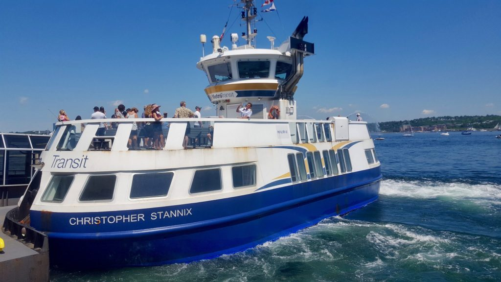 The Halifax Harbour public ferry is cheap thing to do in Halifax on a budget
