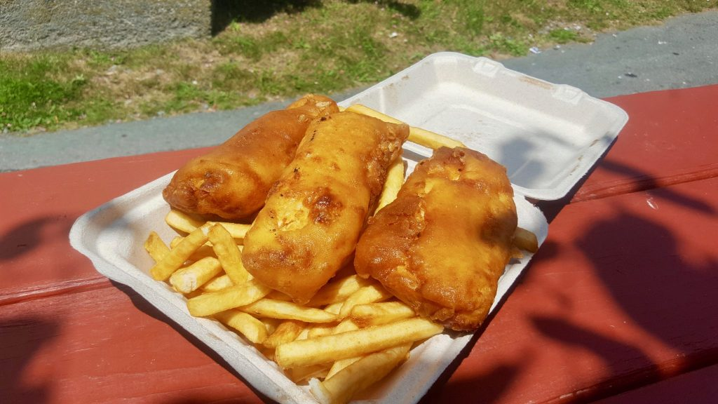 John's lunch Fish & chips Halifax