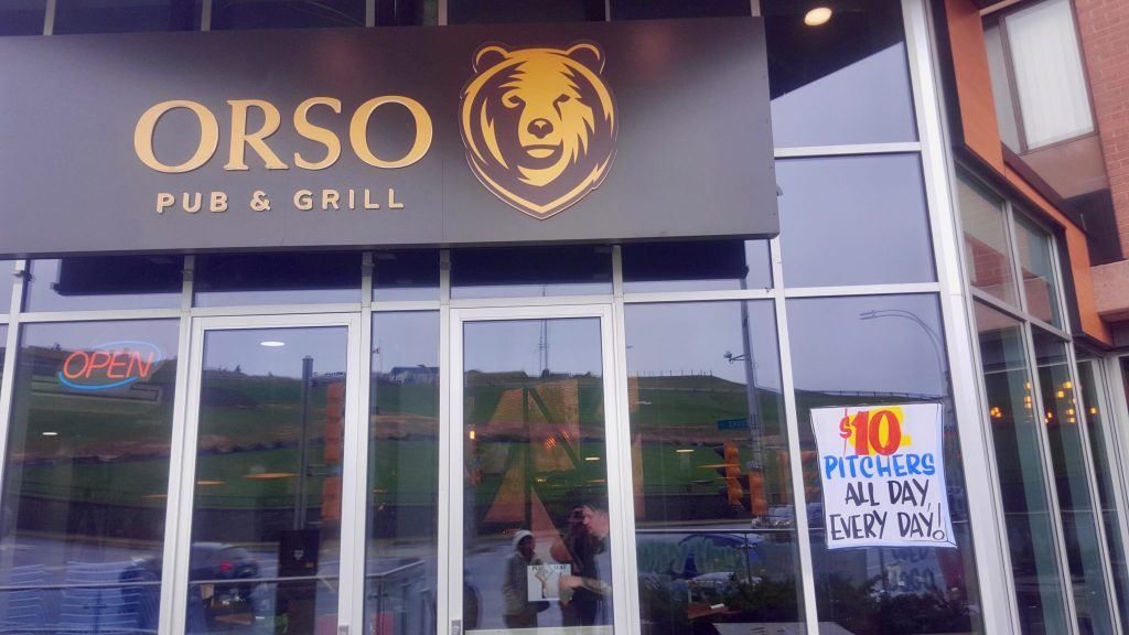 Orso Pub Halifax has cheap $10 beer pitcher promotion