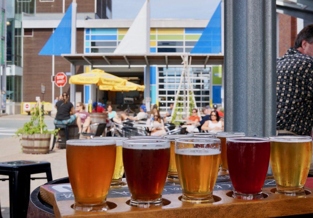Garrisons Brewery Halifax taster flight of craft beer