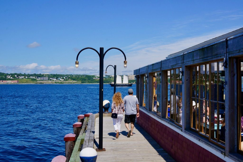 Walking along the Halifax waterfront boardwalk is a free thing to do in Halifax