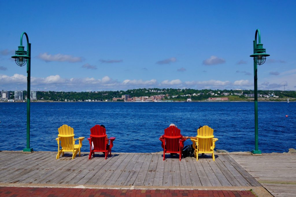 Halifax Waterfront boardwalk chairs