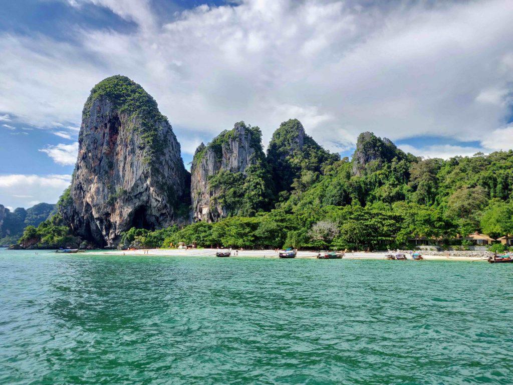 Phra Nang Beach as viewed from the ocean