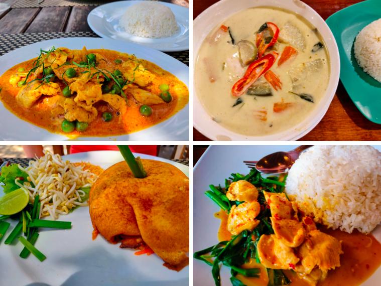 Thai cuisine in Railay Thailand