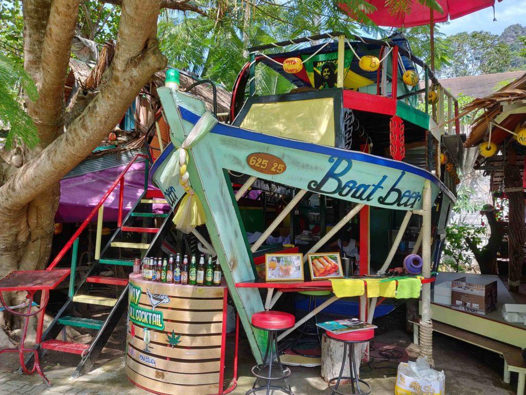 Boat-shaped bar in Railay Thailand