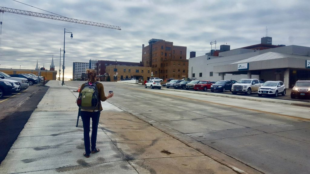 Getting off the Empire Builder train in Minot North Dakota was the longest stop to stretch your legs