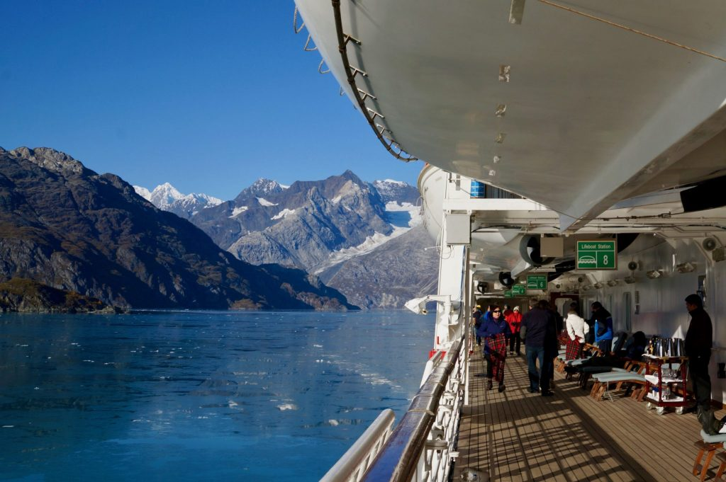 Cruising through Glacier Bay on the Holland America Volendam