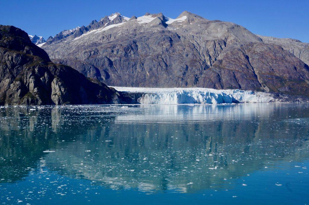 Icebergs glimmering in Glacier Bay National Park Alaska