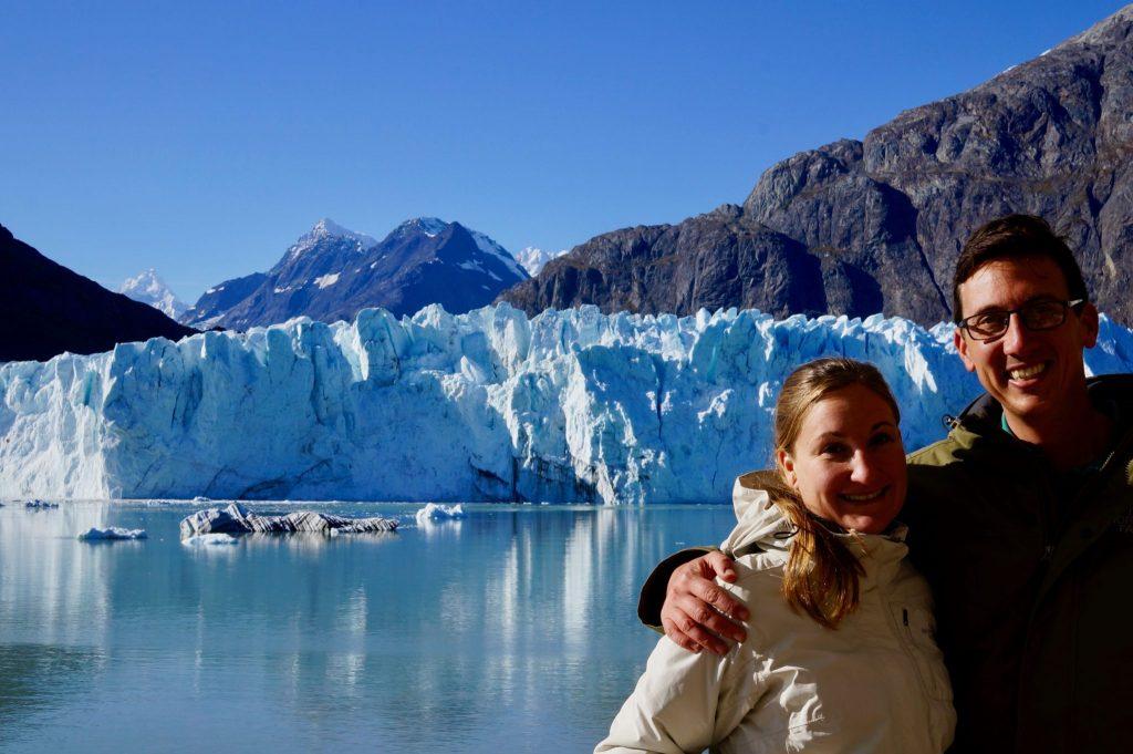 Couple on cruise ship at Glacier Bay